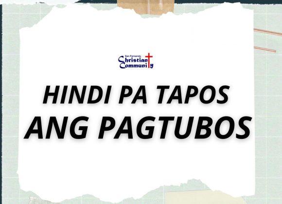 Hindi Pa Tapos Ang Pagtubos (My Redeemer Lives)