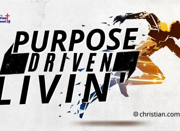 Purpose Driven Livin'
